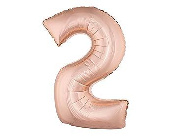 Hs 40cm Roségold Folienballon Zahlen 2 Lufterfüllung Amazonde
