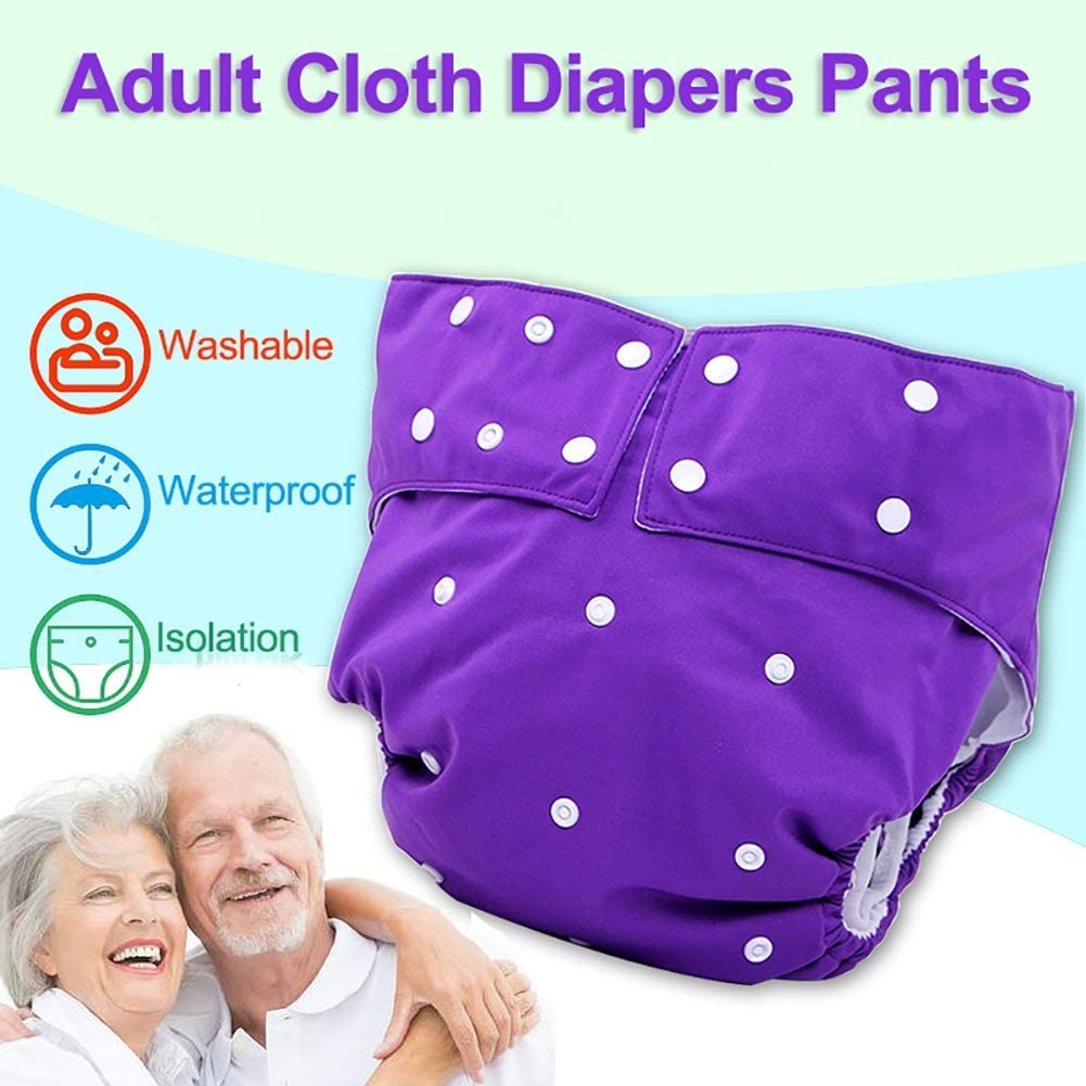 Nighttime Adults Cloth Diapers for Incontinence Care Protective Underwear Adjustable Reusable Leakfree Pocket Nappy