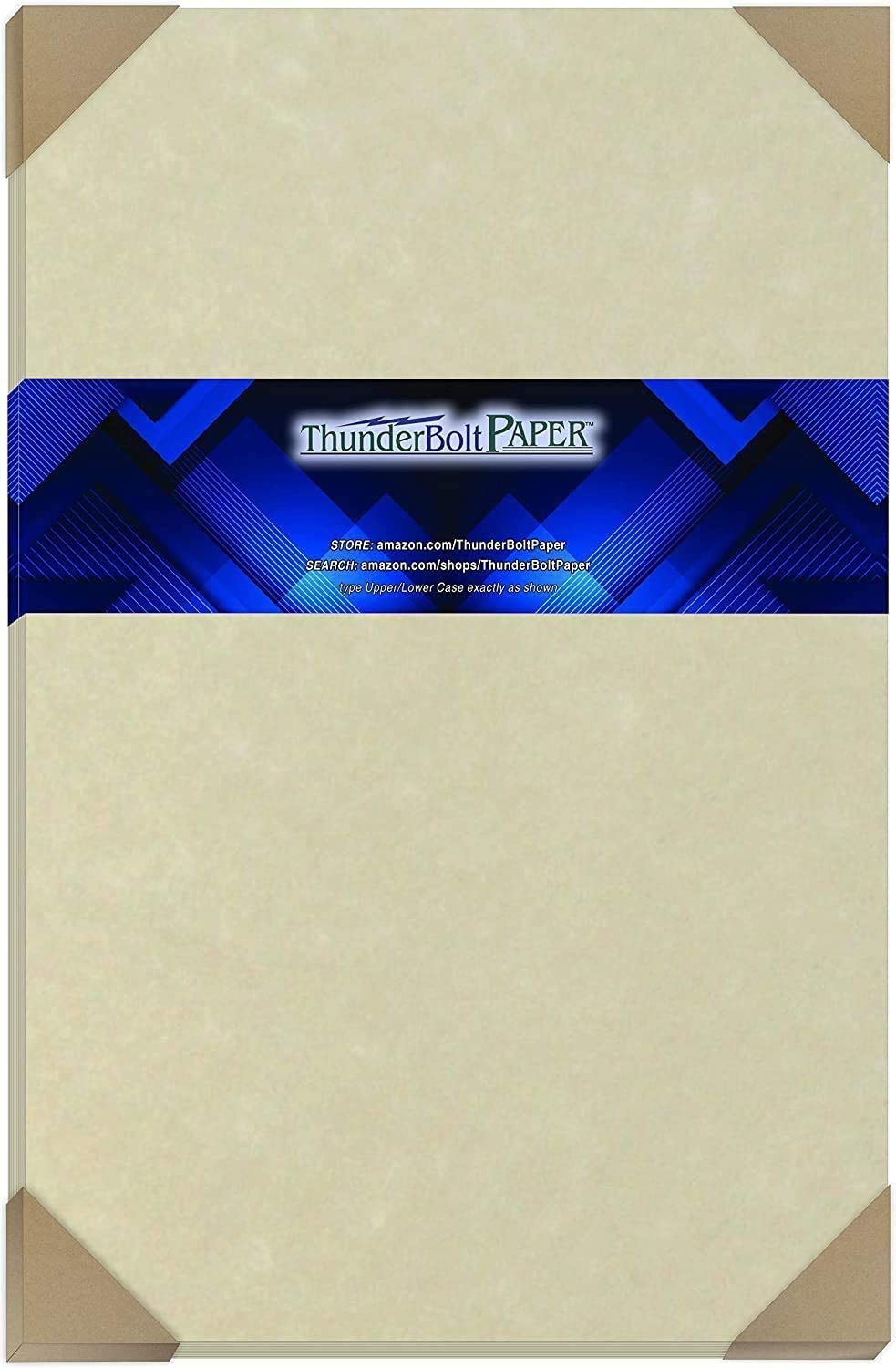 """50 Natural Parchment 60# Text (=24# Bond) Paper Sheets - 11"""" X 17"""" (11X17 Inches) Tabloid