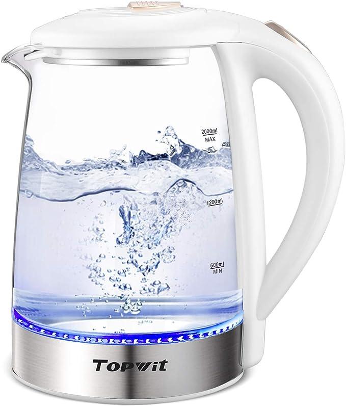 Topwit Electric Glass Tea Kettle