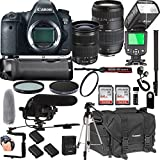 Canon EOS 6D Mark II 24-105mm f/3.5-5.6 is STM + Tamron 70-300mm f/4-5.6 Di LD Macro Lens + 128GB Memory + Pro Battery Bundle + Power Grip + TTL Speed Light + Pro Filters,(24pc Bundle)