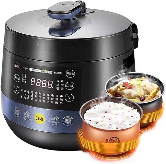 KOUPA Olla a presión eléctrica 6 en 1, Olla de cocción Lenta programable, Olla arrocera, vaporera, salteado, Yogurt y Calentador | 5 L | 11 Programas de un Toque: Amazon.es: Hogar
