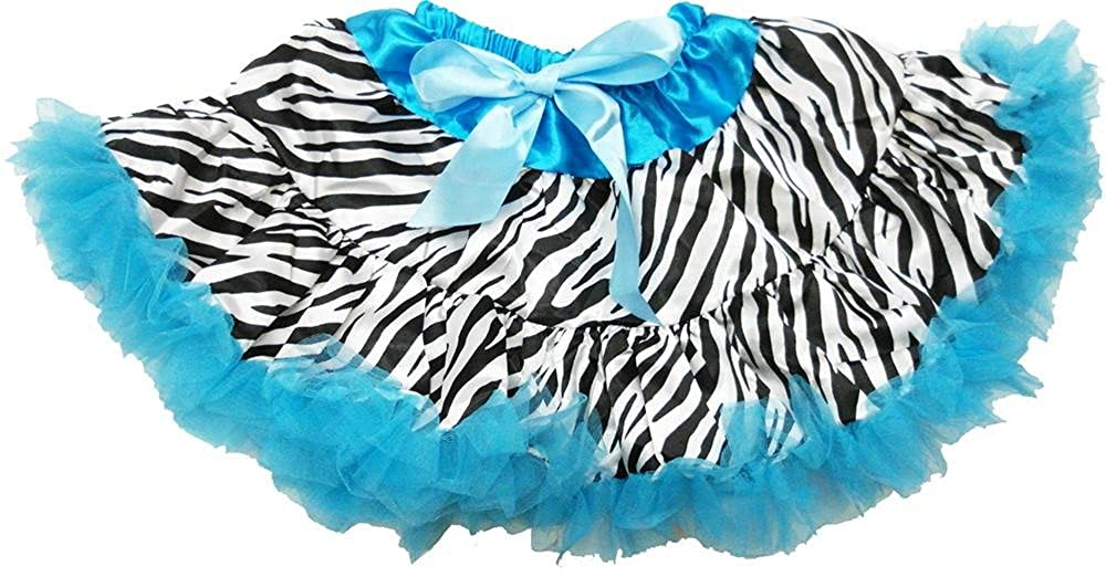 3T-4T wenchoice Girls Blue Zebra Tutu M