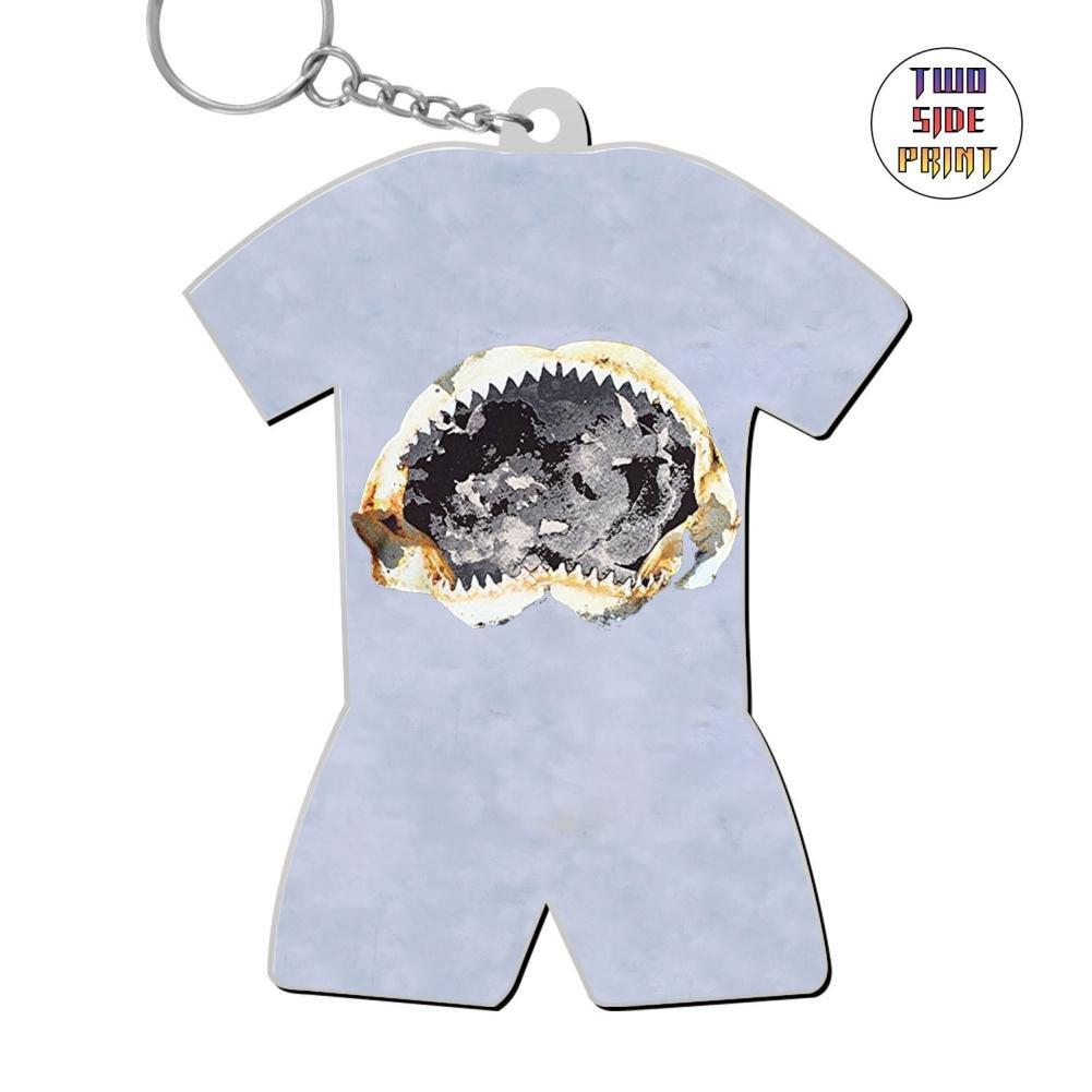 Zinc Alloy Metal Dorm Key Buckle,Print Shark,Best Gift For Friends Men Women