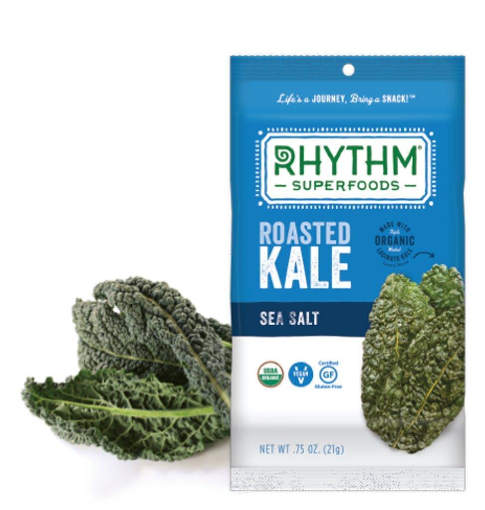 Amazon.com : Rhythm Organic Roasted Kale Snack 0.75oz (Sea Salt ...
