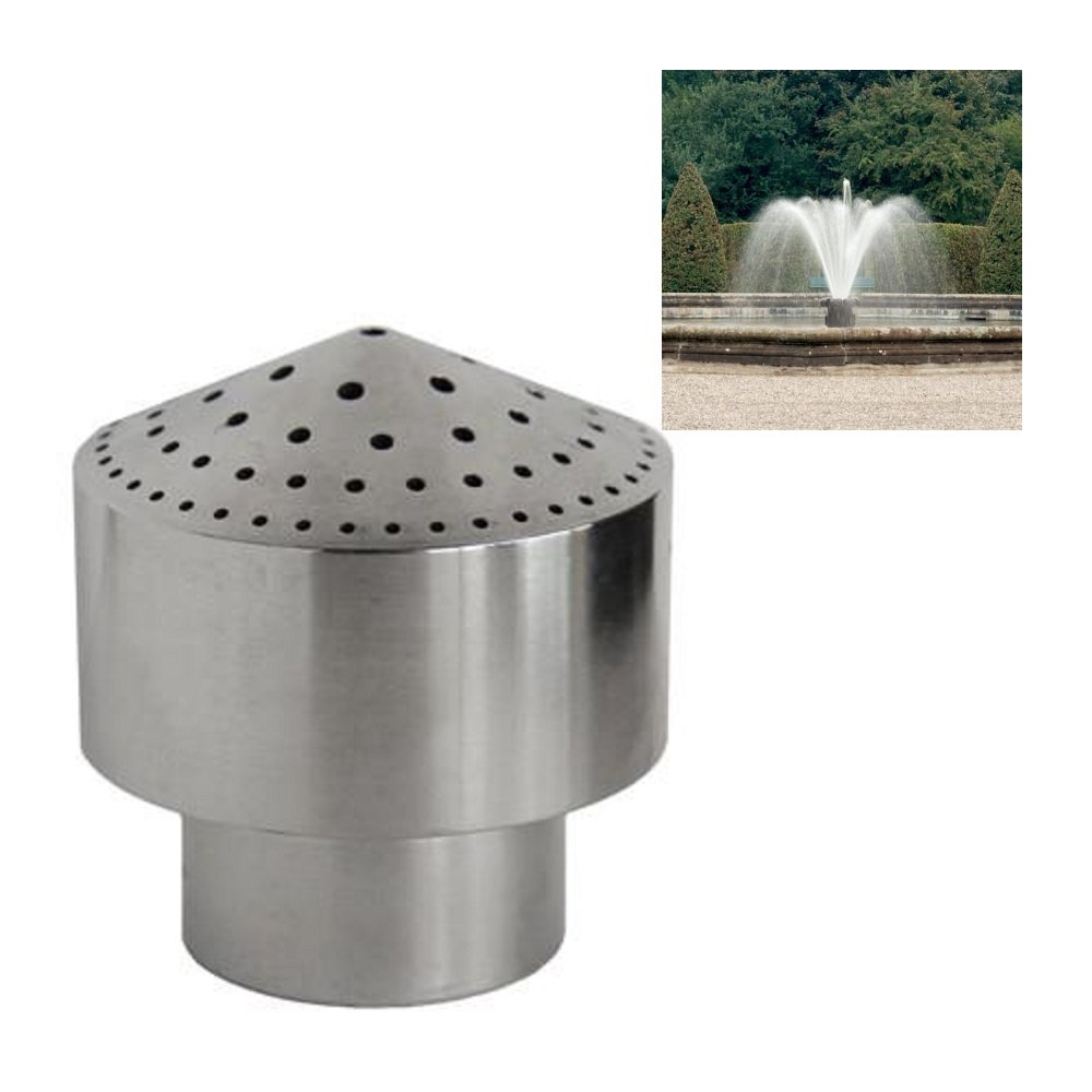 NAVADEAL DN25 1'' Stainless Steel Cluster Water Fountain Nozzle Spray Pond Sprinkler Head