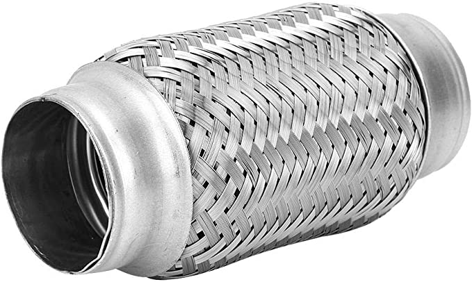 Duokon 38 x 102mm 1.5 x 4in Stainless Steel Exhaust Flexible Pipe Good Air Tightness Flexi Joint Repair Tube Car Accessories