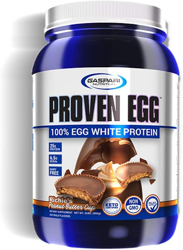 Gaspari Nutrition Proven Egg | 100% Egg White Protein | 25g Protein Powder | Dairy Free (Peanut Butter Cup)