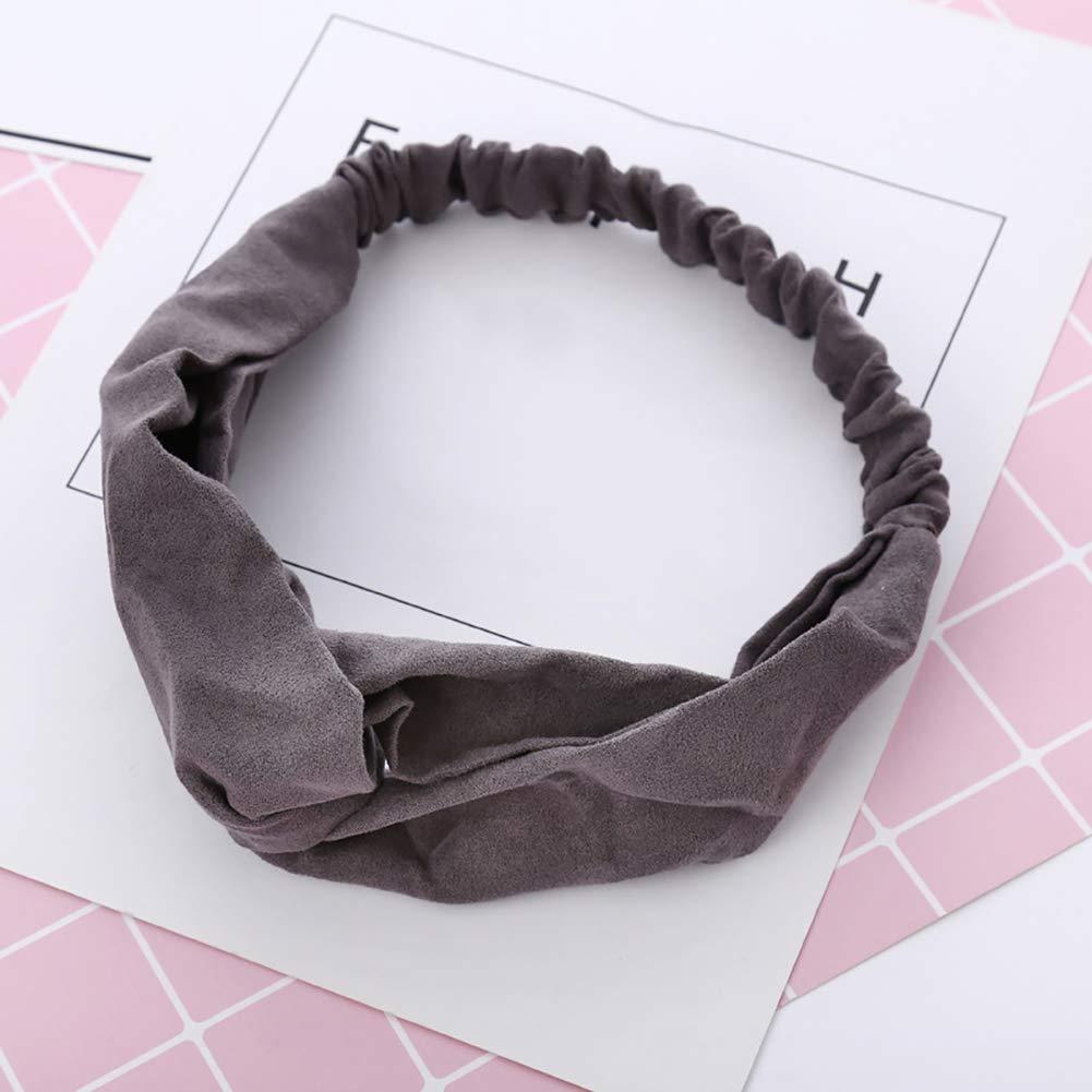 Sukisuki Haarband aus Wildleder f/ür Frauen Rose elastisch