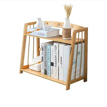 WERTF Desktop Bookshelf Rack Small Bookcase Simple Student Desk Storage Mini Size