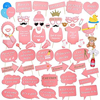 Itu0027s A Girl Baby Shower Party Photo Booth Kits(57pcs), Konsait New Born