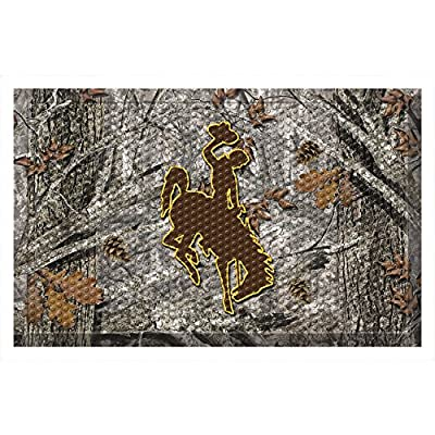 "FANMATS 20777 Team Color 19"" x 30"" Wyoming Scraper Mat (Camo)"