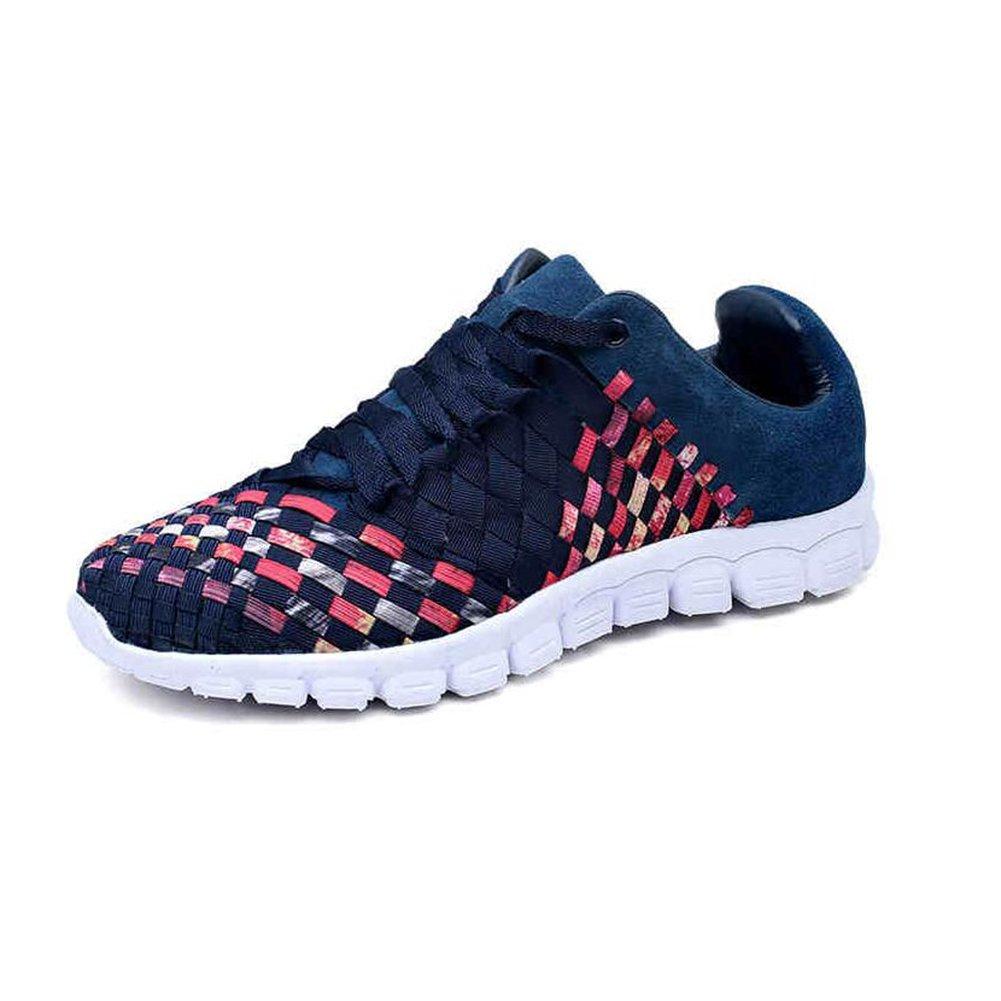 YIXINY Schuhe Turnschuhe Mode Herrenschuhe Weberei Schuhe Atmungsaktiv Net Schuhe Sport & Freizeit Jugend Frühling Und Herbst (Farbe   Blau, größe   EU39 UK6.5 CN40)