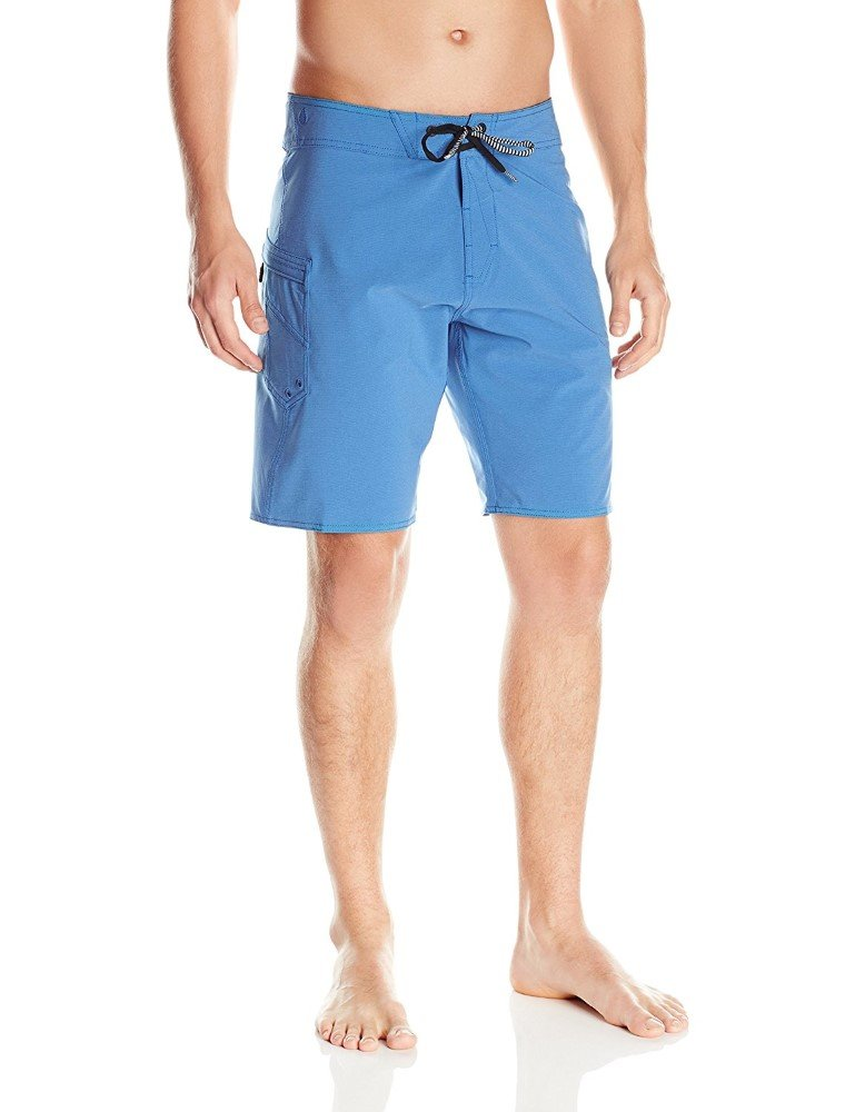 Volcom Men's Lido Solid Mod Stretch 20'' Boardshort, Deep Water Repreve, 38