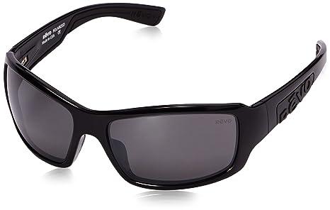 Revo Gafas de sol gafas straightshot cristal negro polarizadas gris