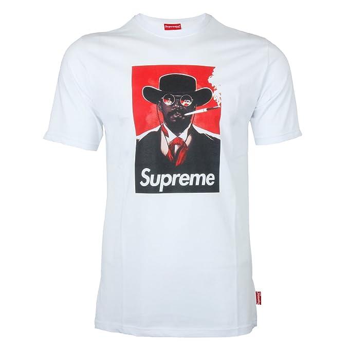 Supreme Spain - Camiseta - Redondo - para Hombre Blanco XS: Amazon.es: Ropa y accesorios