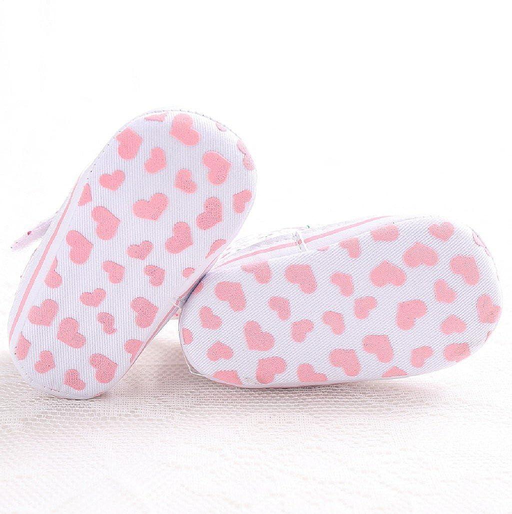 Zapatos para beb/é Auxma La Zapatilla de Deporte Antideslizante de la ni/ña Calza la /única Zapatilla de Deporte de los Zapatos de la Forma del coraz/ón por 3-18 Meses