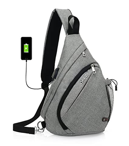 Camping & Hiking Tactical Military Bag Shoulder Chest Cross Body Backpack For Men Women Sports Climbing Hiking Travel Bag With Usb Charging Port Sports & Entertainment