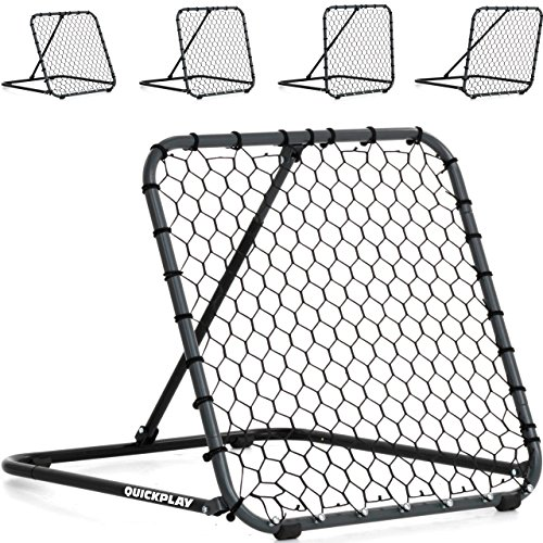 QUICKPLAY PRO Rebounder – Pitch Back Baseball, Soccer Rebounder, Softball Pitching and Throwing Practice Trainer, Adjustable Angle Pitchback Trainer & Multi-Sport Ball Return Net - NEW 2018 - (3 x 3')