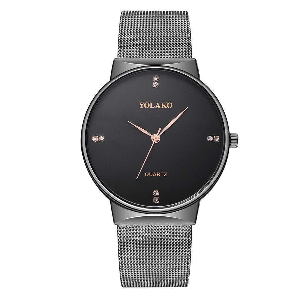 2019 Fashion Men's Watches Quartz Stainless Steel Watch,Outsta Analog Wrist Watch Birthday Lover Gift Spring Deals!Hot (Black)