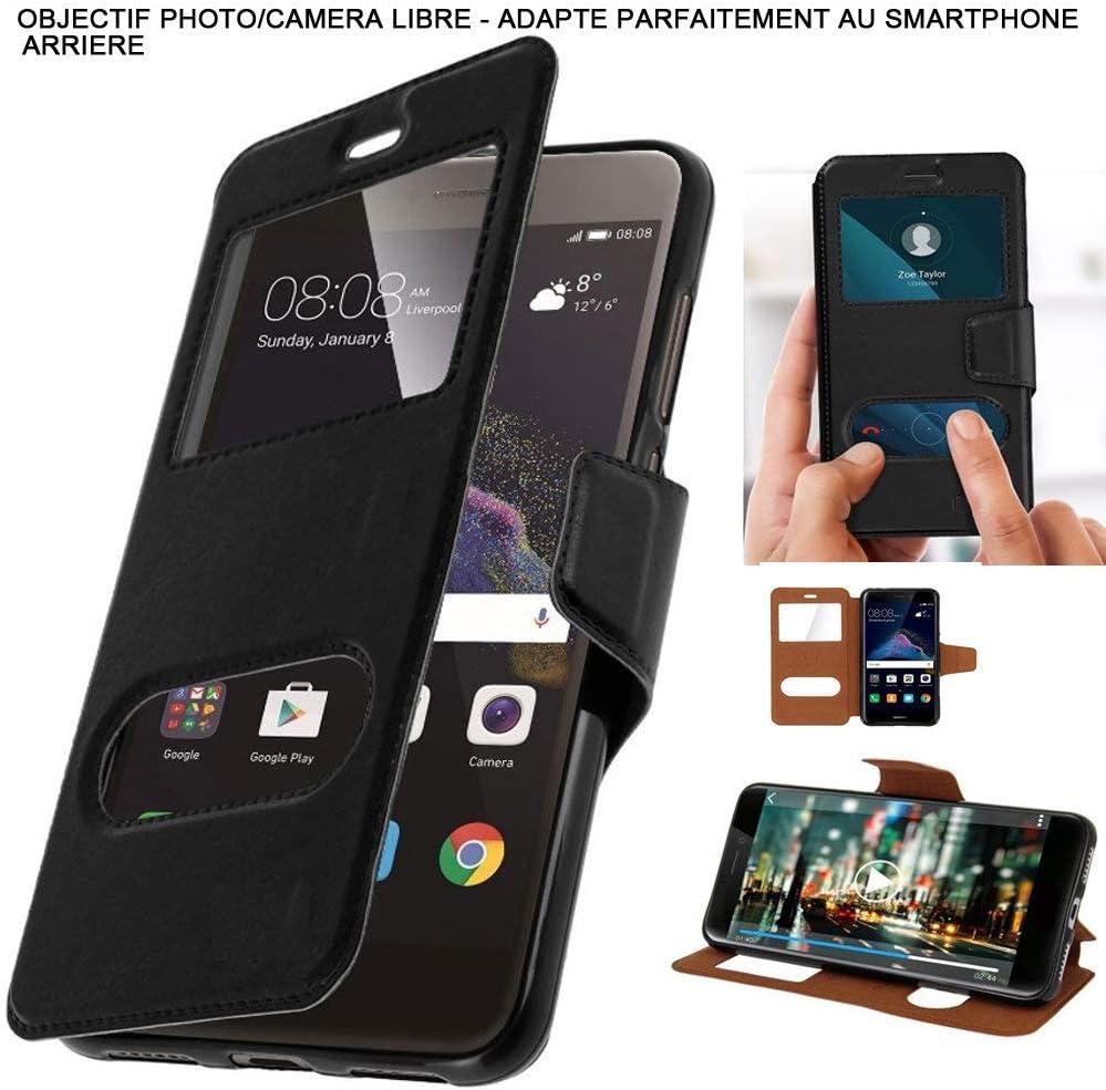 PRISKY - Carcasa para LG Bello (2 ventanas), color negro A medida.: Amazon.es: Electrónica