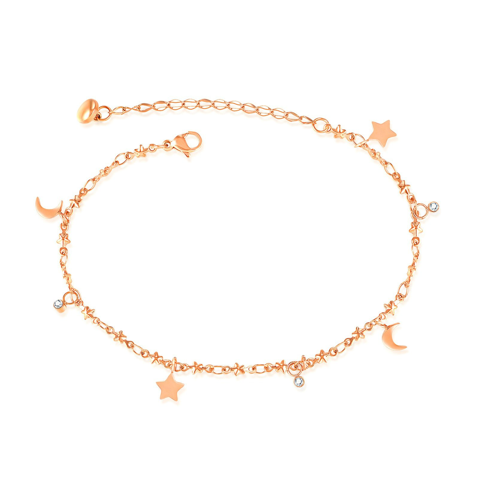 Beydodo Ankle Bracelet Gold Stainless Steel Beach Anklets Wedding Circle Anklet
