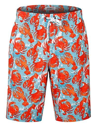 APTRO Men's Funny Swim Trunks Bathing Suits No Mesh #HW016 L ()