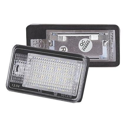 Republe LED de la lámpara del Coche de matrícula para los Q7 A3 S3 S4 B6