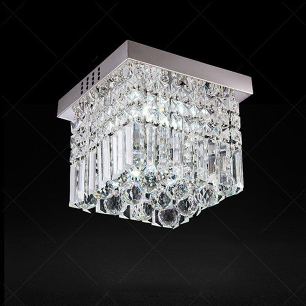 U-Enjoy Kronleuchter Moderne Kristall für Licht-Lampe Lamparas De Led Decke Schlafzimmer Esszimmer Montage Innen Techo Oberflächen Fixture Kostenloser Versand [Kaltes Weiß & 9048]