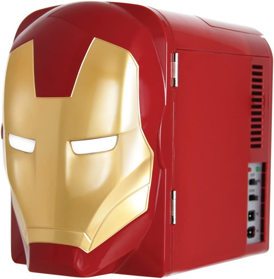 Amazon.com: Marvel Ironman Thermo-Electric Mini Fridge Cooler, Red ...