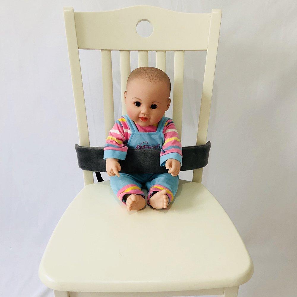 Portable Baby Feeding Chair Belt Toddler Safety Seat Belt Grey