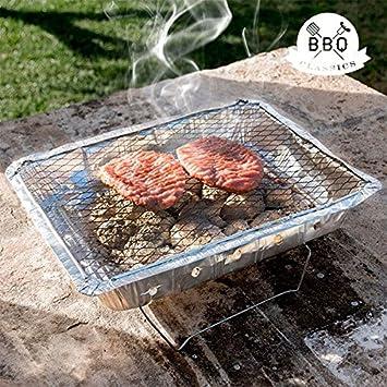 Barbacoa desechable BBQ Classics con Soporte carbón Barbacoa Pic Nic: Amazon.es: Jardín