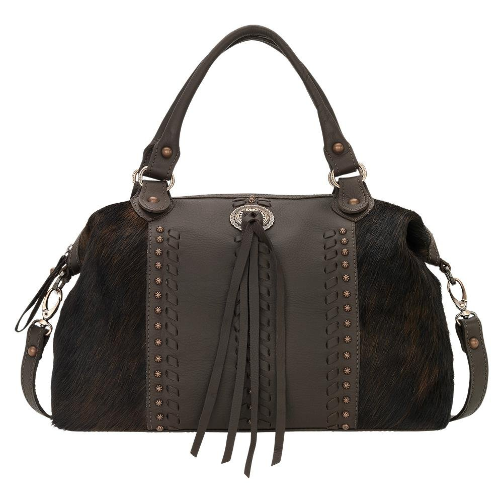 4138227 American West Women's Cow Town Purse - Chocolate