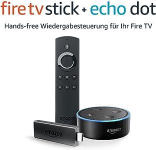 Fire TV Stick mit Alexa-Sprachfernbedienung + Echo Dot