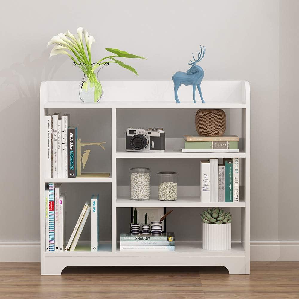 多層木製の木の本棚、多目的な収納スペースを節約する本棚、ホームオフィスのリビングルームの装飾ZDDAB用の本のディスプレイ棚