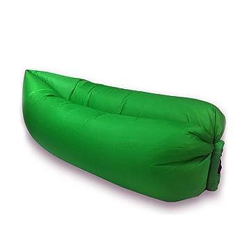 Saco de dormir hinchable Trumpo, con diseño de tumbona con nailon impermeable para verano, verde: Amazon.es: Deportes y aire libre