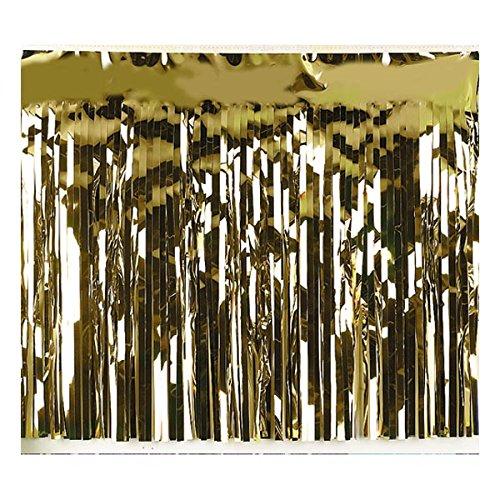 Metallic Gold Fringe, 15 Inches x 10 Feet, Parade Float Decoration