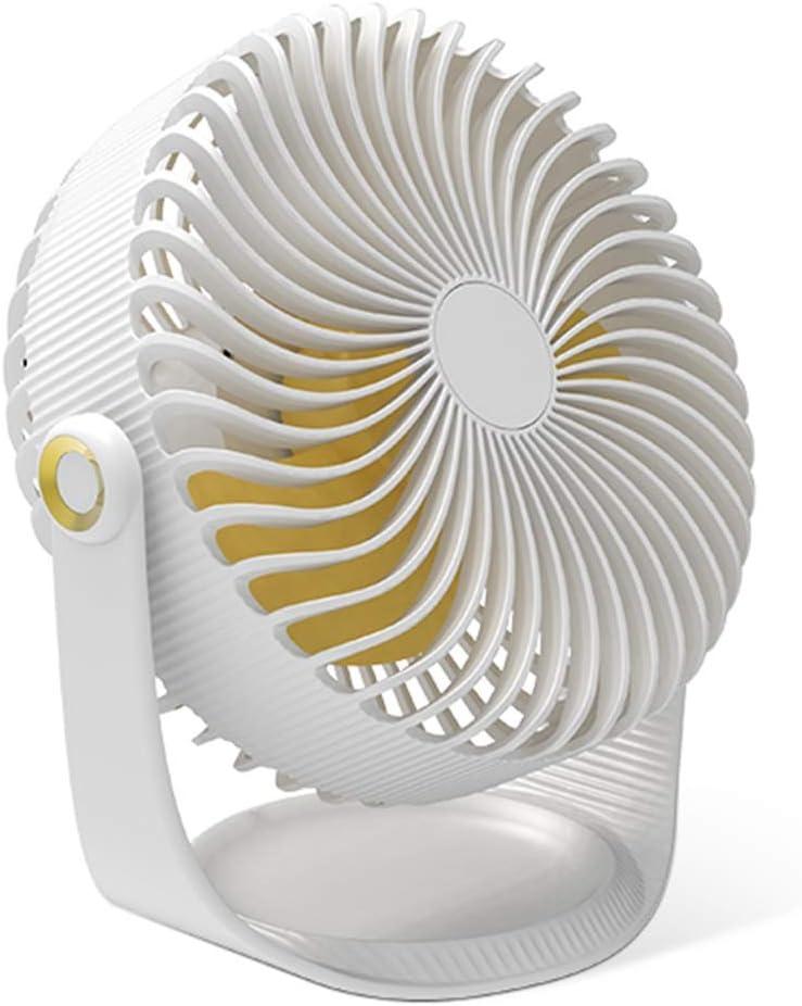 Color : Blue, Size : 7inch USB Fan Mute No Noise Chargeable Desktop Household Student Dorm Room Office Desktop Fan with Tray Tingting Fan