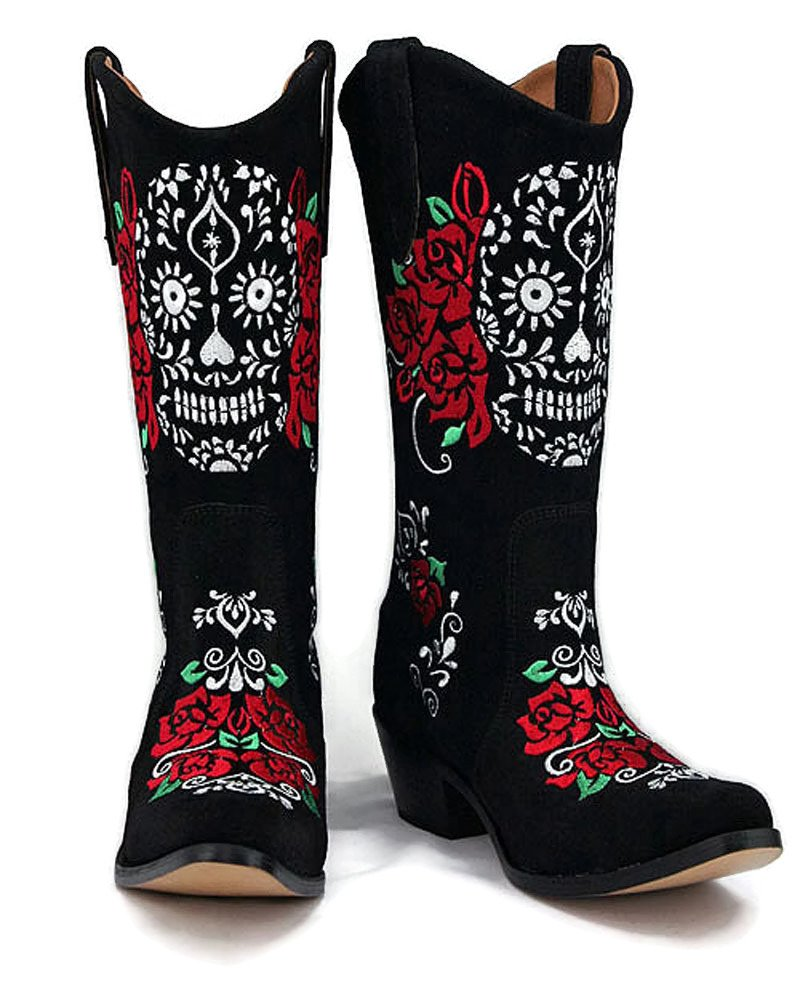 Agave Sky Day of The Dead – Calavera Cowgirl Boots