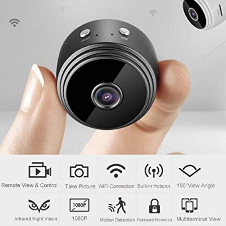 Mini Spy Camera WiFi Hidden Cam Wireless HD 1080P Home Security Motion Detection Night Vision for iPhone Android Phone iPad PC by FKCAM