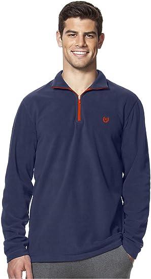 Chaps Men/'s 1//4 Zip Fleece Sports Pullover