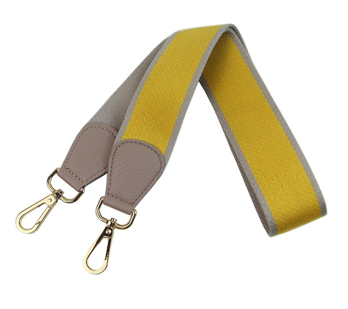 Purse Strap Replacement Guitar Style Multicolor Canvas Crossbody Strap for Handbags (Color-13)