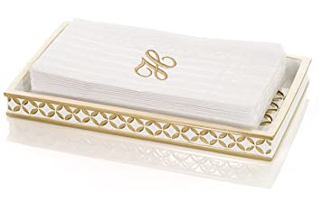 diamond lattice guest towel holder decorative cosmetics organizer best vanity trays for arranging perfume