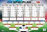 HEUTE REDUZIERT - 3,99 EURO -Fußball EM Spielplan 2016 XXL-Poster - Mit jedem Kauf 1 Euro spenden!