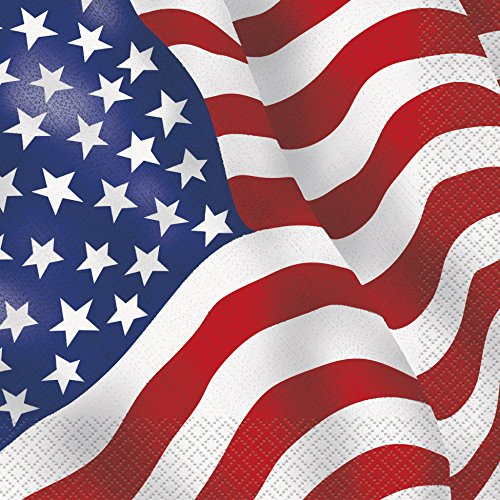 US American Flag Party Napkins, 16ct (Flag Napkins)