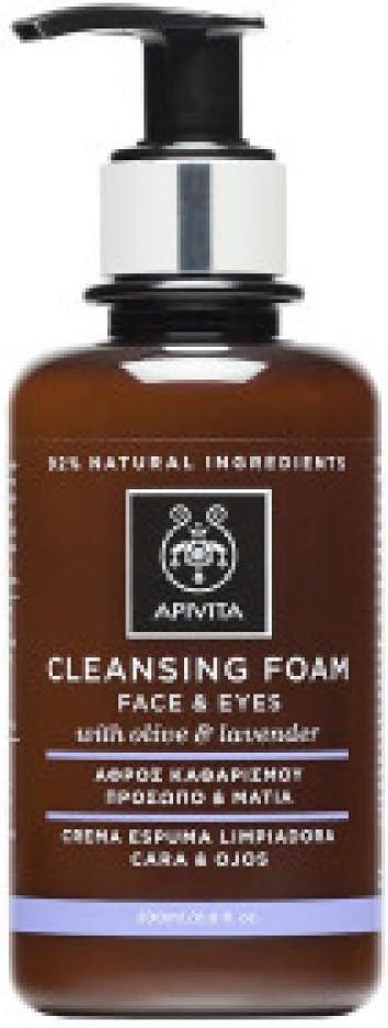 Apivita - Crema espuma limpiadora facial & ojos oliva & lavanda