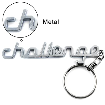 General Chrome Silver Metal Car Key Chain Key Ring with Challenge Logo: Automotive