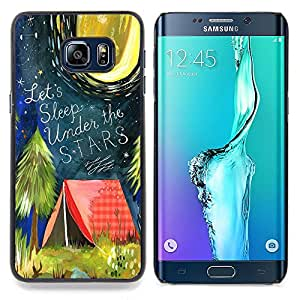 Stuss Case / Funda Carcasa protectora - Carpa Cita Bosque Luna de la noche - Samsung Galaxy S6 Edge Plus / S6 Edge+ G928