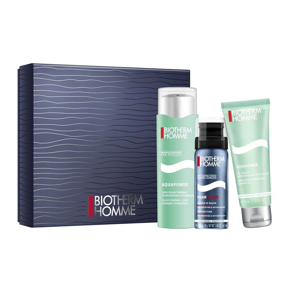Biotherm (public) 3614272341845 set para el cuidado facial - Sets para el cuidado facial (Hombres, Piel mixta, Piel normal, Hidratante, 3 pieza(s), 210 mm, 190 mm)