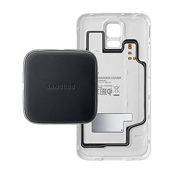 Samsung EP-WG900IWEGWW - Pack de funda S-View y cargador por inducción para Galaxy S5, blanco